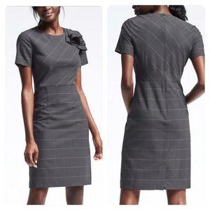 NWT! BR Lightweight Wool Shoulder Ruffle Dress